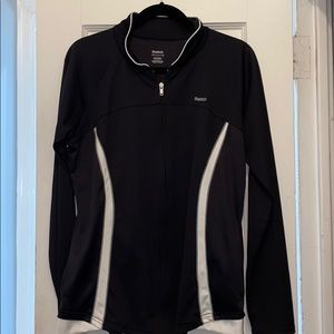 Worn 1x! Black Reebok Zip Up Track Jacket, Size XL